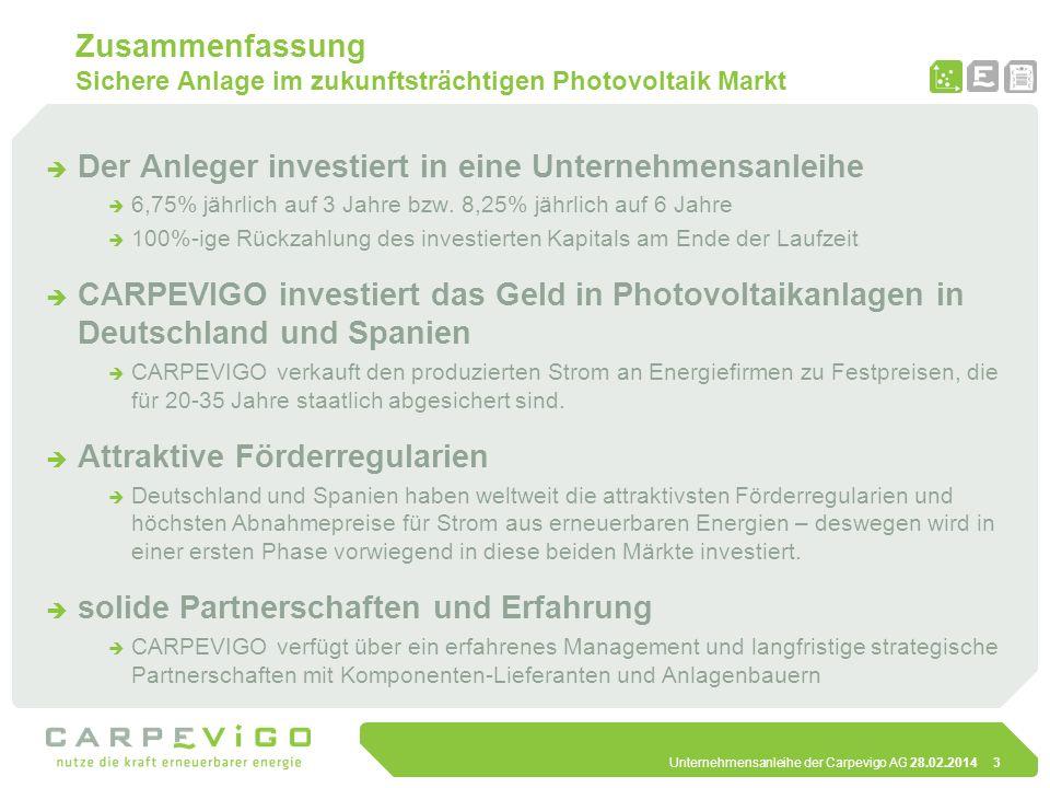 Der Anleger investiert in eine Unternehmensanleihe