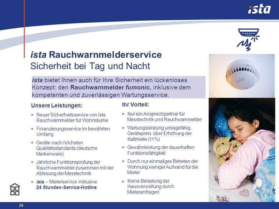 ista Rauchwarnmelderservice Sicherheit bei Tag und Nacht