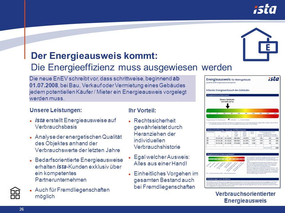 Der Energieausweis kommt: Die Energieeffizienz muss ausgewiesen werden