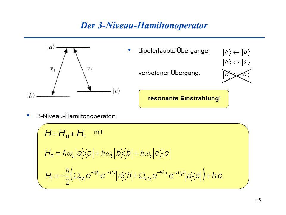 Der 3-Niveau-Hamiltonoperator