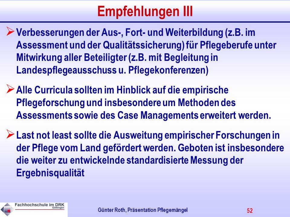 Günter Roth, Präsentation Pflegemängel