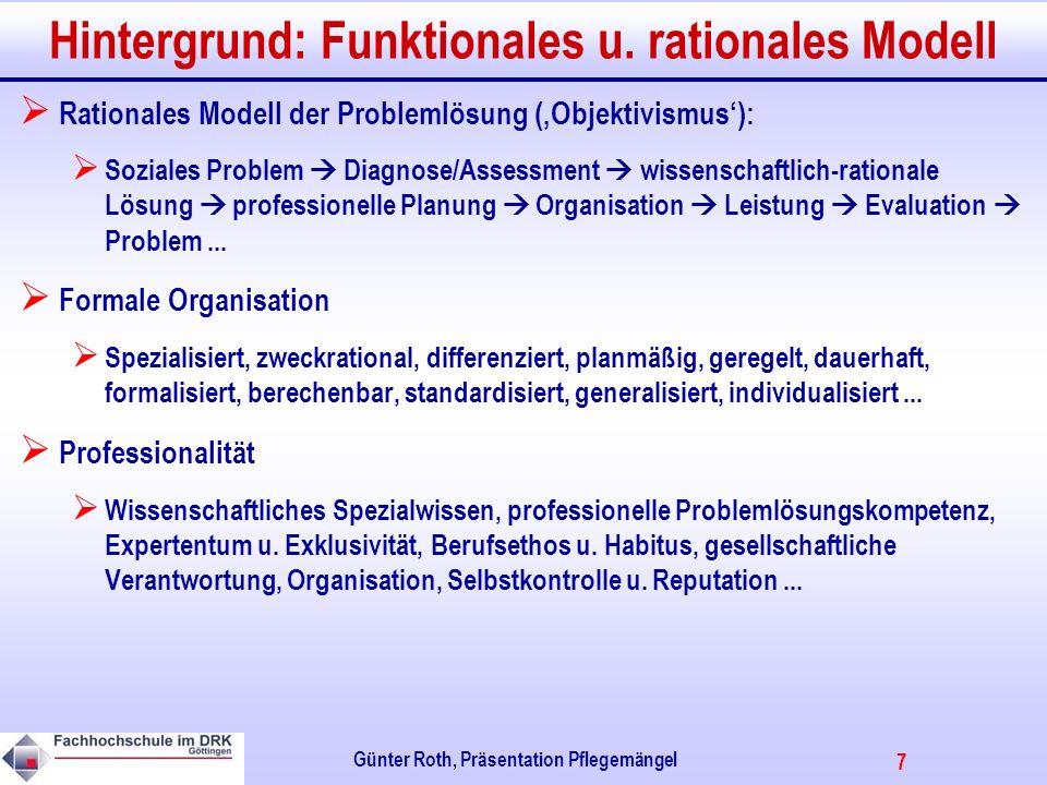 Hintergrund: Funktionales u. rationales Modell