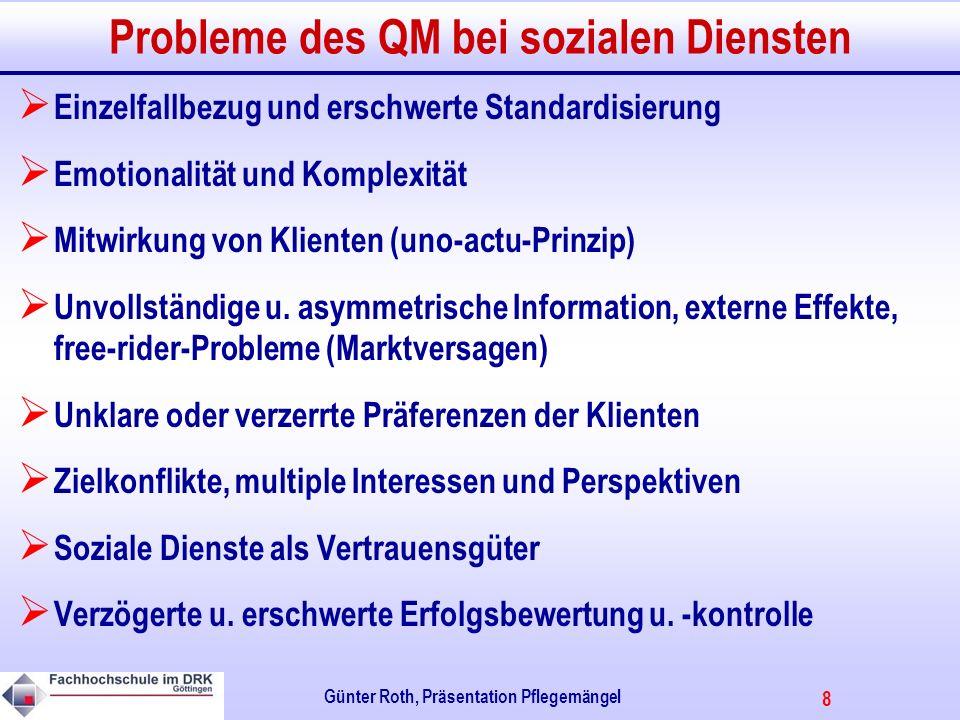 Probleme des QM bei sozialen Diensten