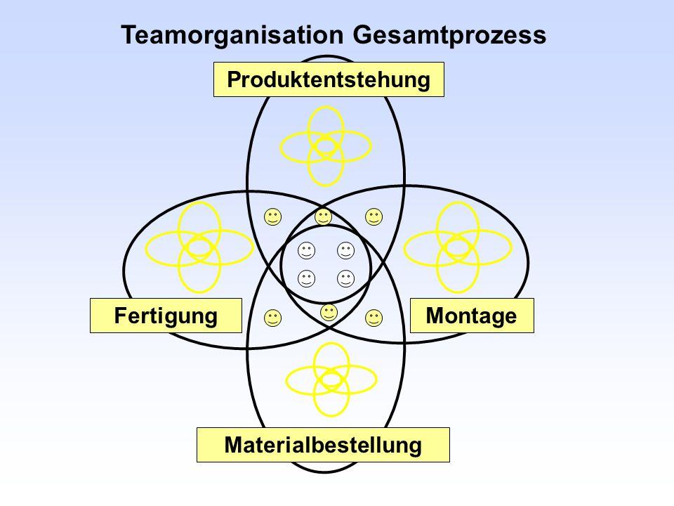 Teamorganisation Gesamtprozess