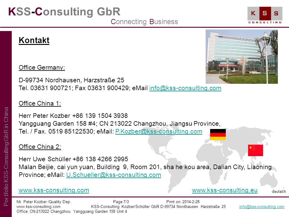 KSS-Consulting GbR Kontakt Connecting Business Office Germany: