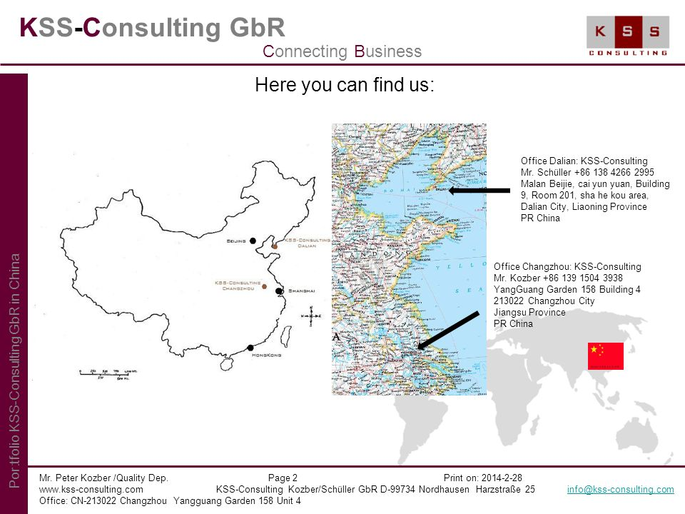 KSS-Consulting GbR Here you can find us: Connecting Business