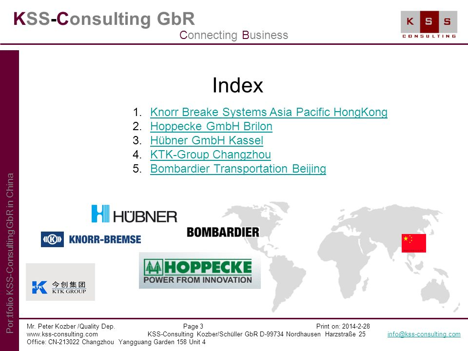 Index KSS-Consulting GbR Connecting Business