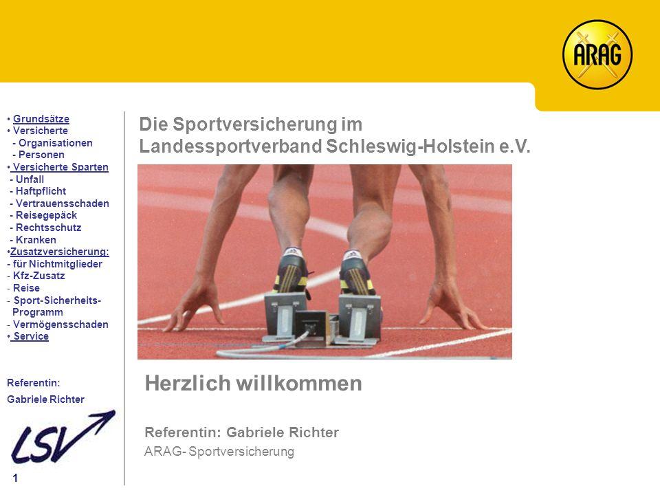 Die Sportversicherung im Landessportverband Schleswig-Holstein e.V.
