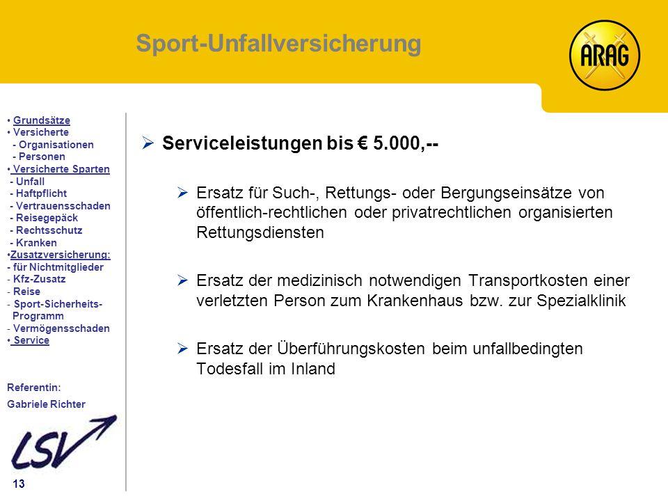 Sport-Unfallversicherung