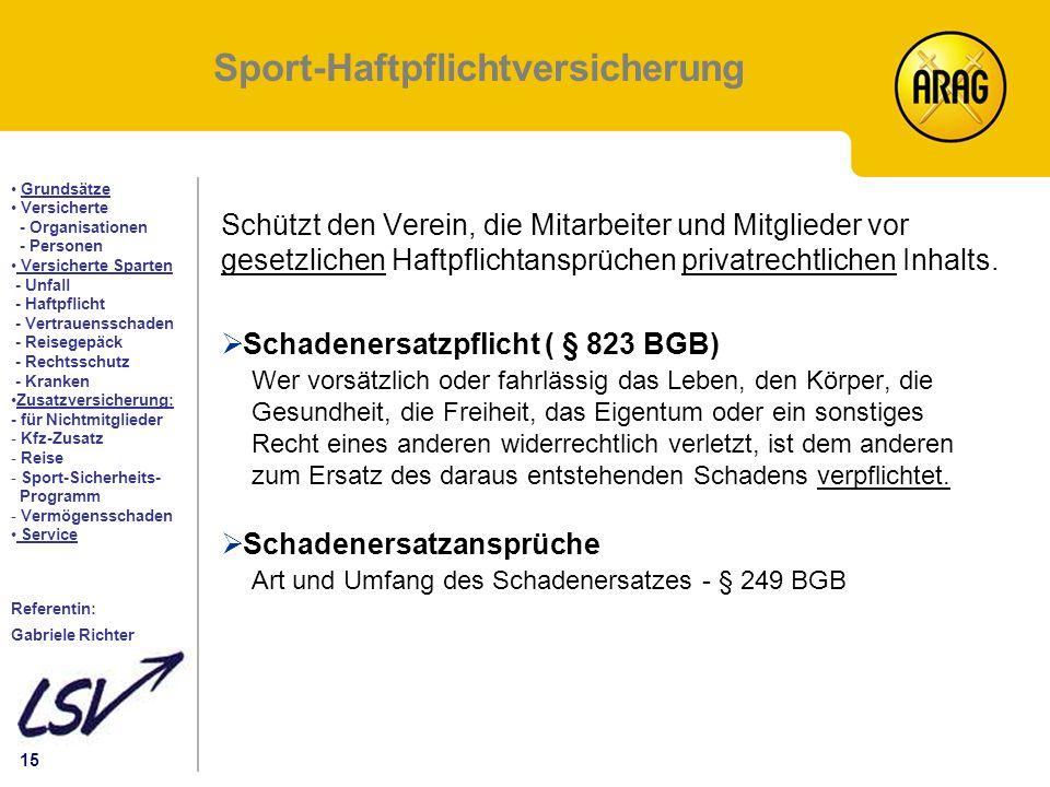 Sport-Haftpflichtversicherung