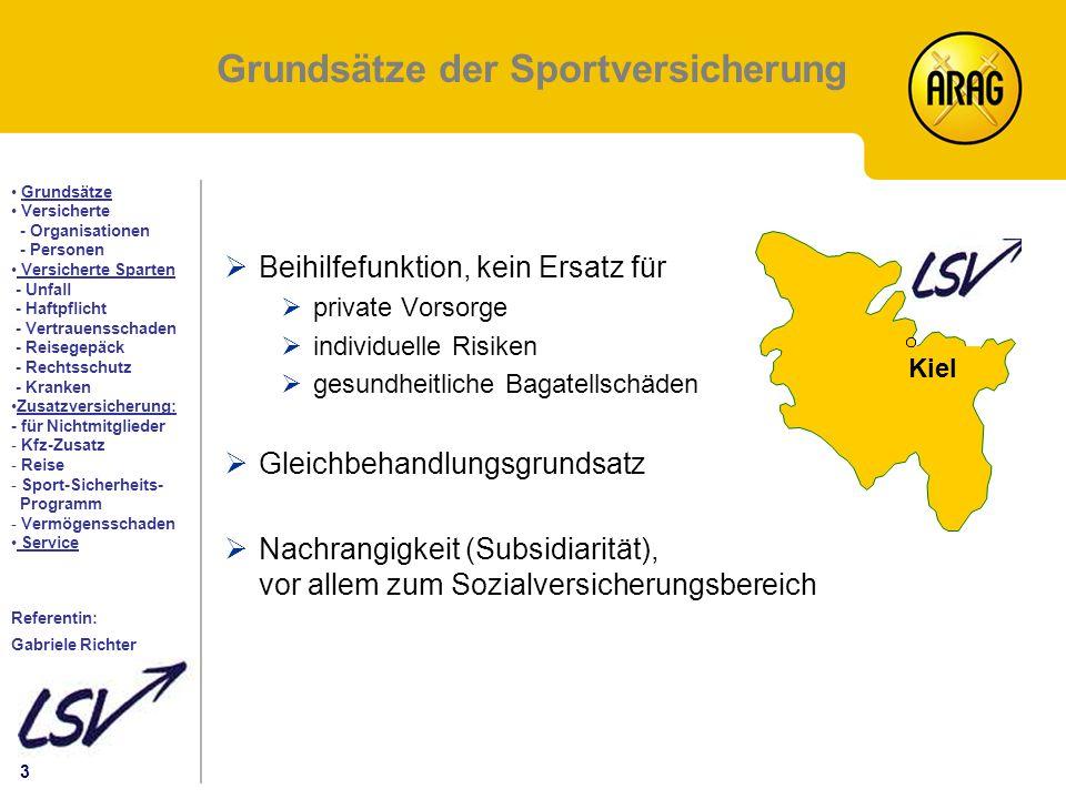 Grundsätze der Sportversicherung