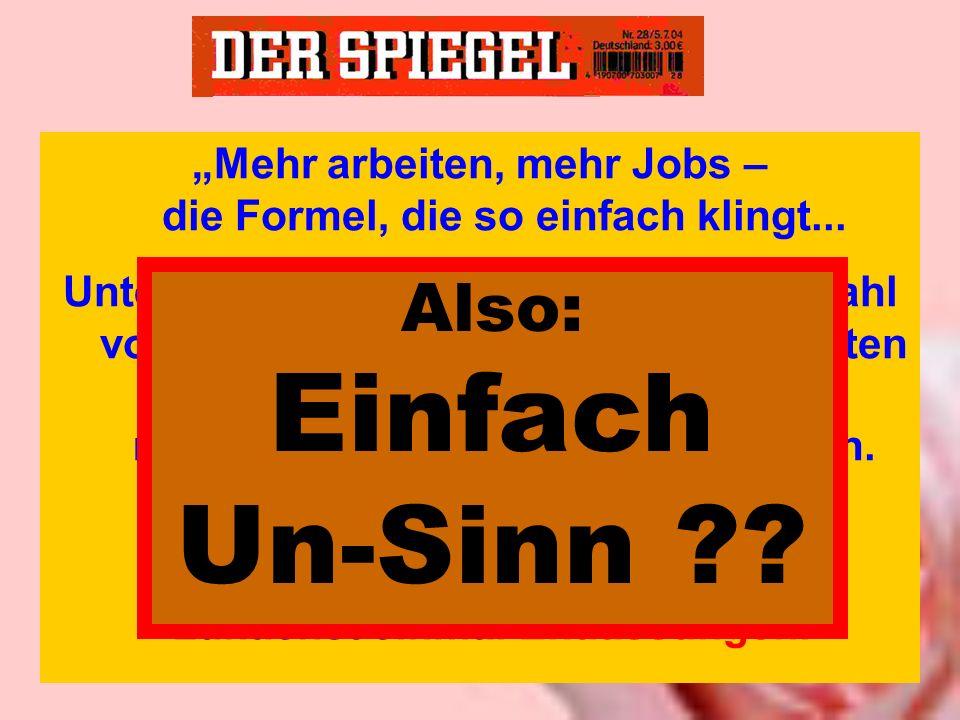 """""""Mehr arbeiten, mehr Jobs – die Formel, die so einfach klingt..."""