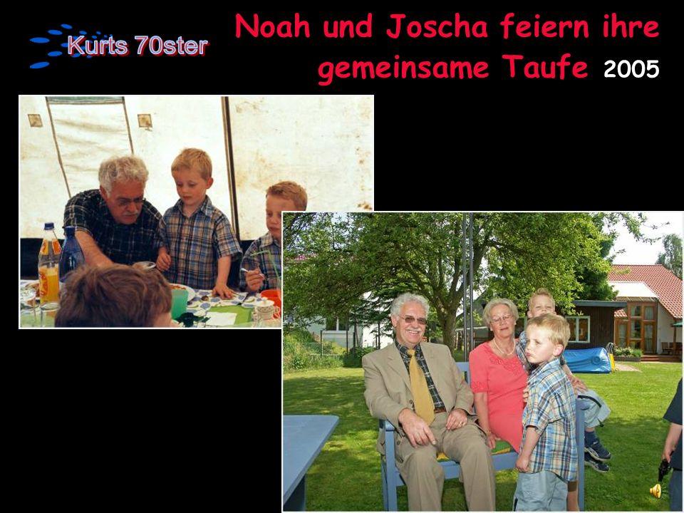 Noah und Joscha feiern ihre gemeinsame Taufe 2005