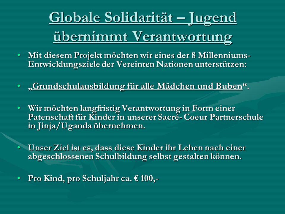 Globale Solidarität – Jugend übernimmt Verantwortung