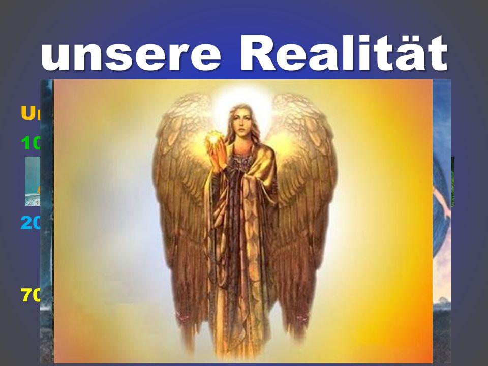 unsere Realität Unsere Wirklichkeit besteht aus etwa: 10%