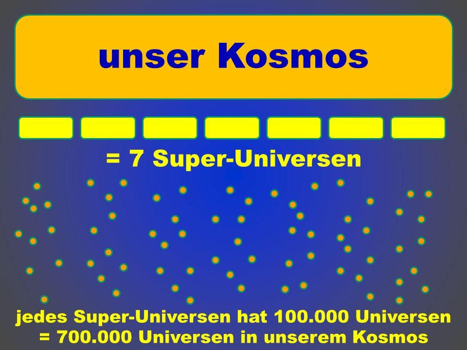 unser Kosmos = 7 Super-Universen