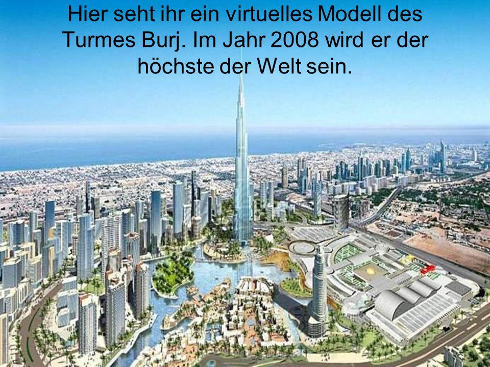 Hier seht ihr ein virtuelles Modell des Turmes Burj