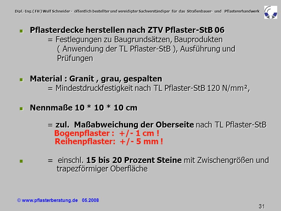 material unter pflaster