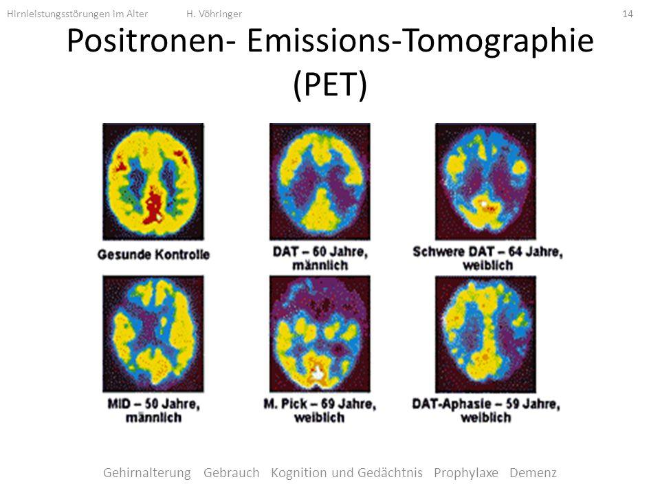 Positronen- Emissions-Tomographie (PET)