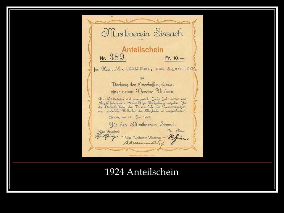 1924 Anteilschein