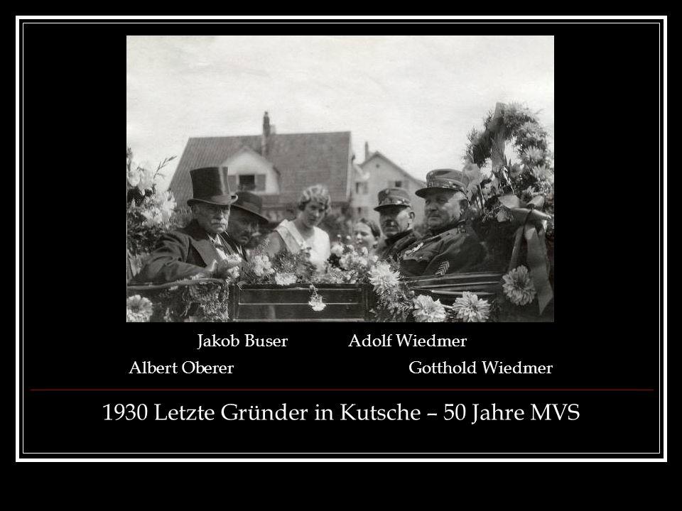 1930 Letzte Gründer in Kutsche – 50 Jahre MVS