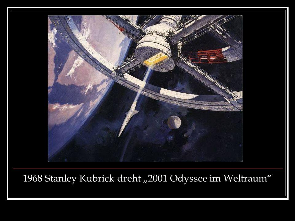 """1968 Stanley Kubrick dreht """"2001 Odyssee im Weltraum"""