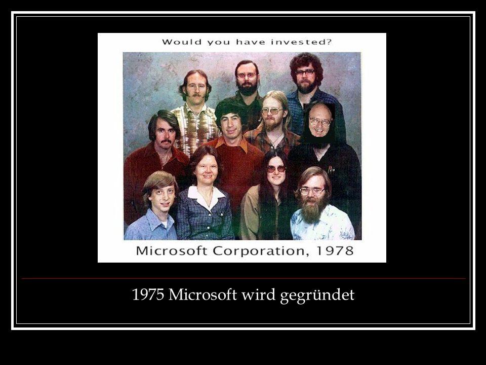 1975 Microsoft wird gegründet