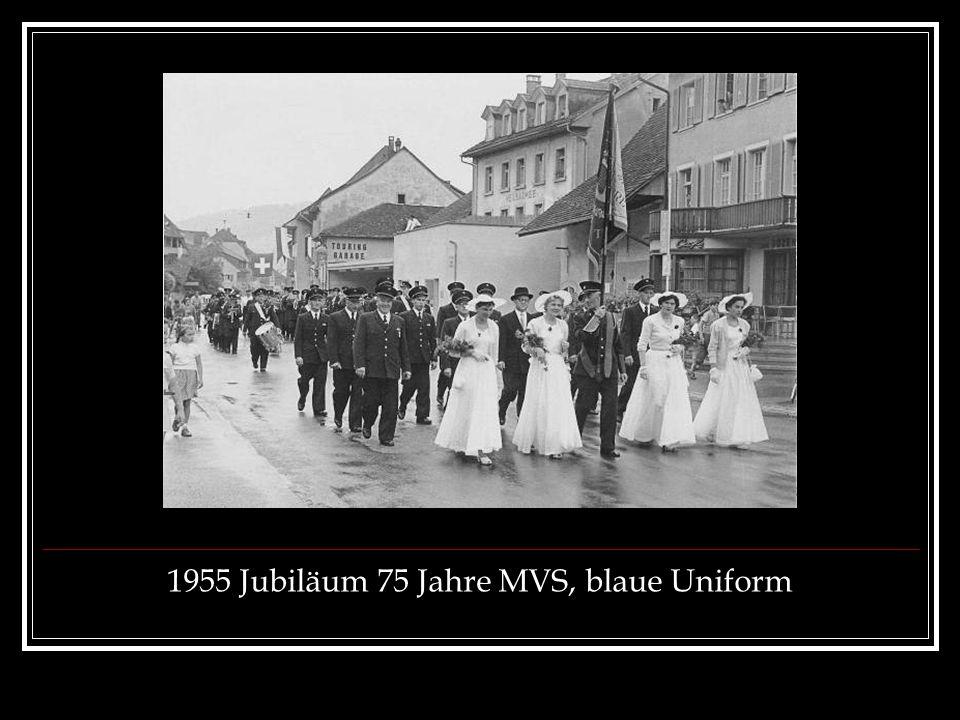 1955 Jubiläum 75 Jahre MVS, blaue Uniform