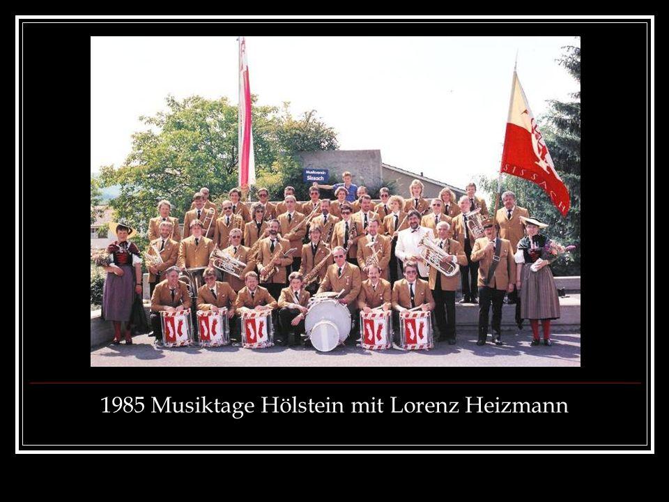 1985 Musiktage Hölstein mit Lorenz Heizmann