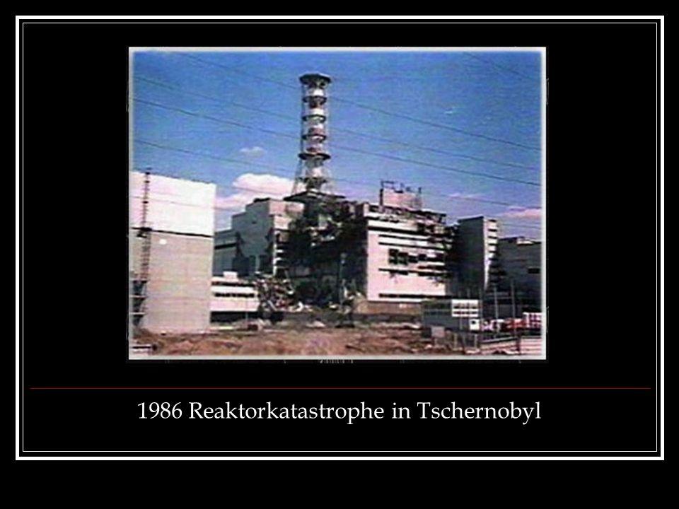 1986 Reaktorkatastrophe in Tschernobyl