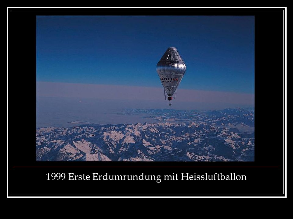 1999 Erste Erdumrundung mit Heissluftballon