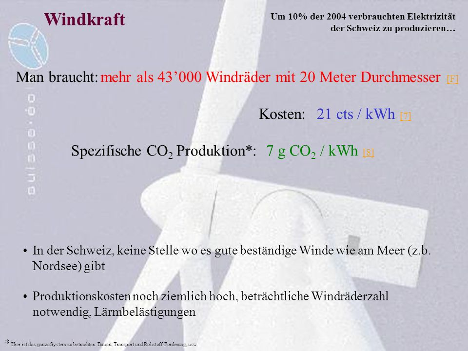 Windkraft Man braucht: