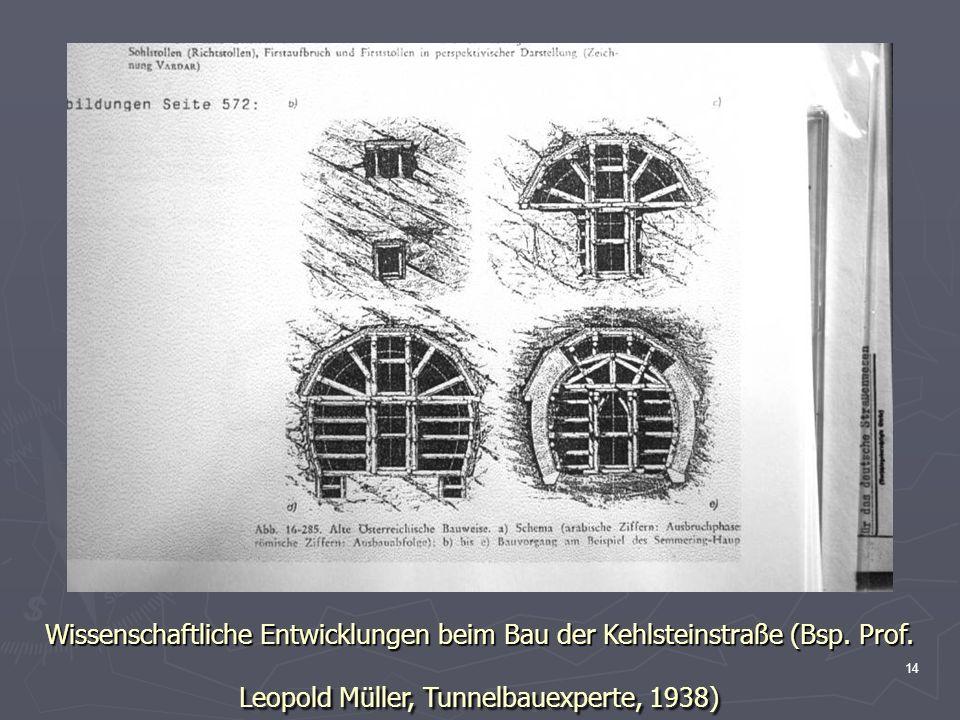 Wissenschaftliche Entwicklungen beim Bau der Kehlsteinstraße (Bsp.