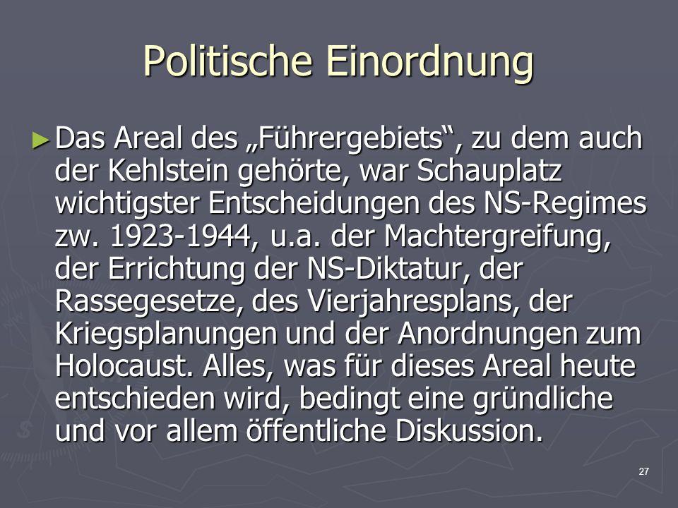 Politische Einordnung