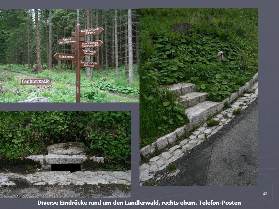 Diverse Eindrücke rund um den Landlerwald, rechts ehem. Telefon-Posten