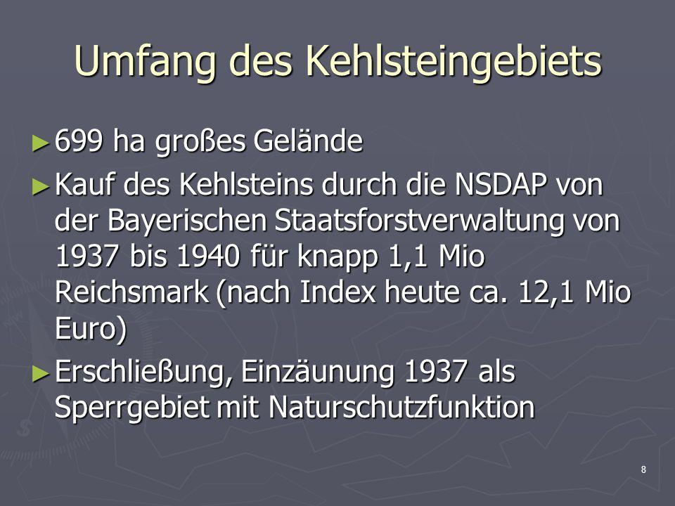 Umfang des Kehlsteingebiets