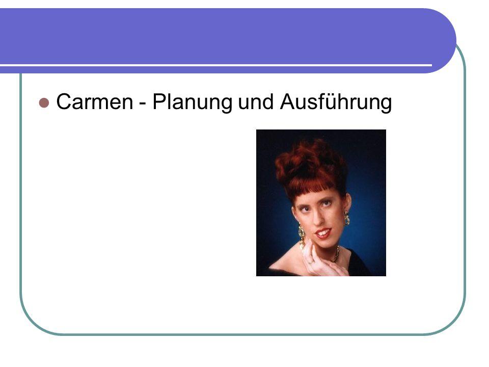 Carmen - Planung und Ausführung