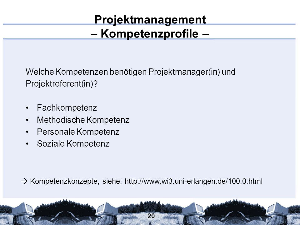 Projektmanagement – Kompetenzprofile –