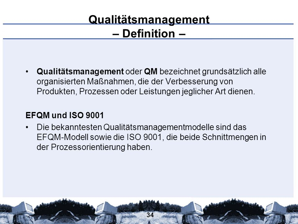 Qualitätsmanagement – Definition –