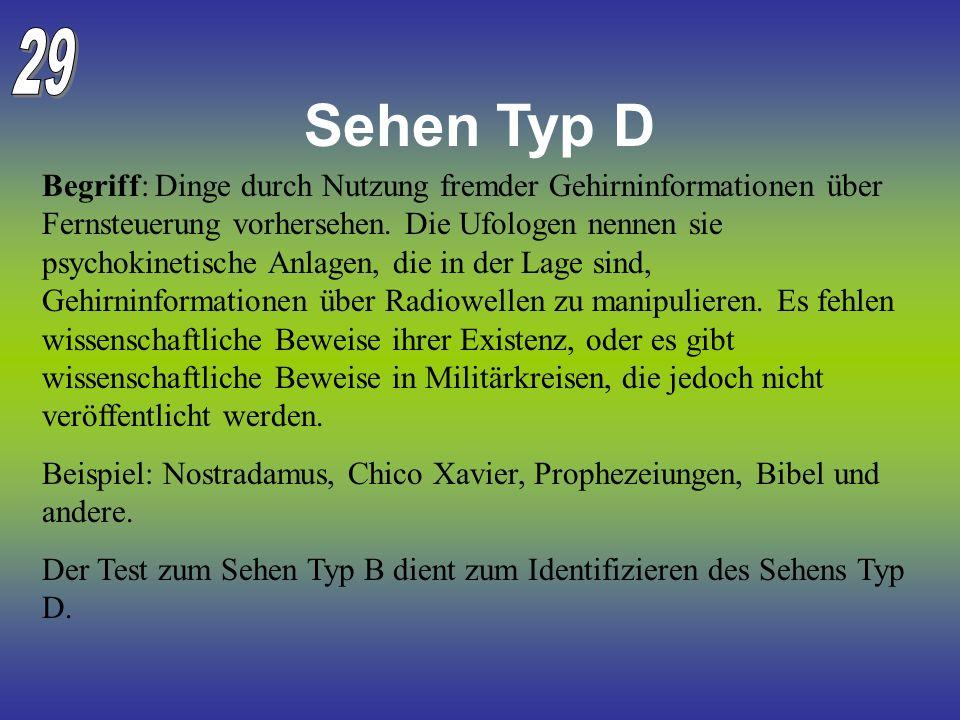 29 Sehen Typ D.