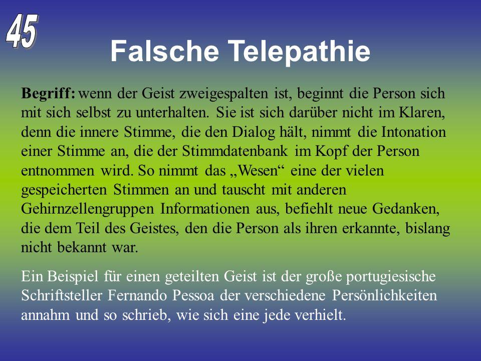 45 Falsche Telepathie.