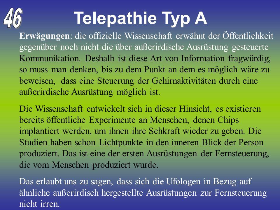 Telepathie Typ A 46.