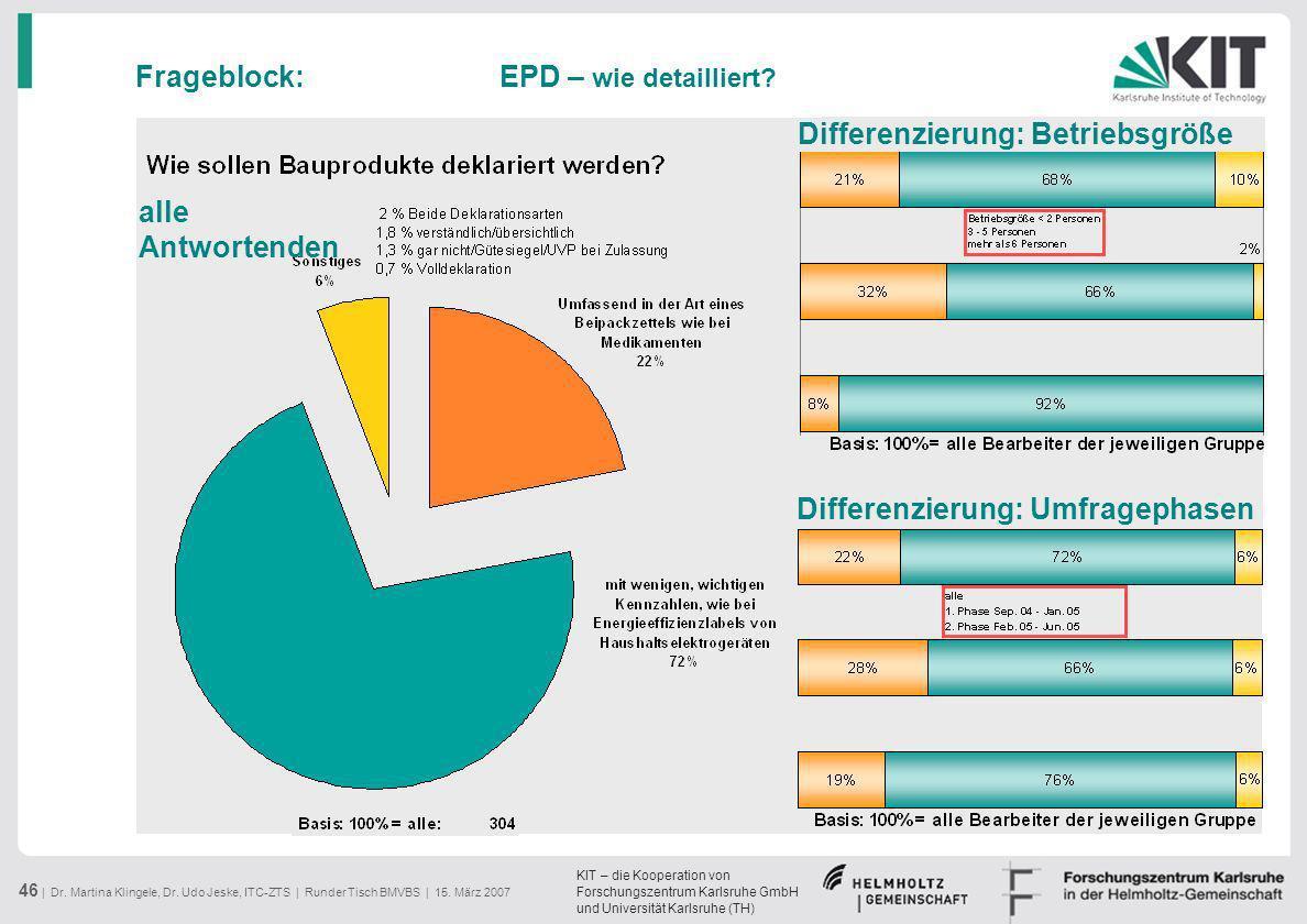 Frageblock: EPD – wie detailliert