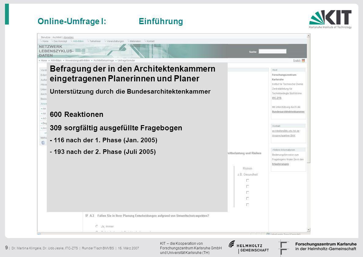 Online-Umfrage I: Einführung