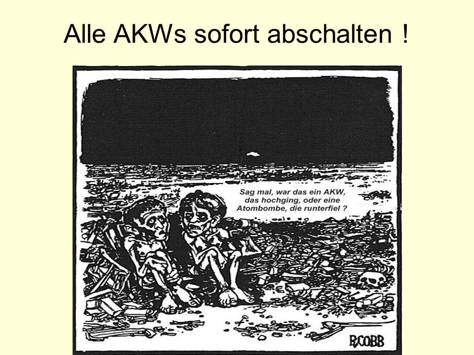 Alle AKWs sofort abschalten !