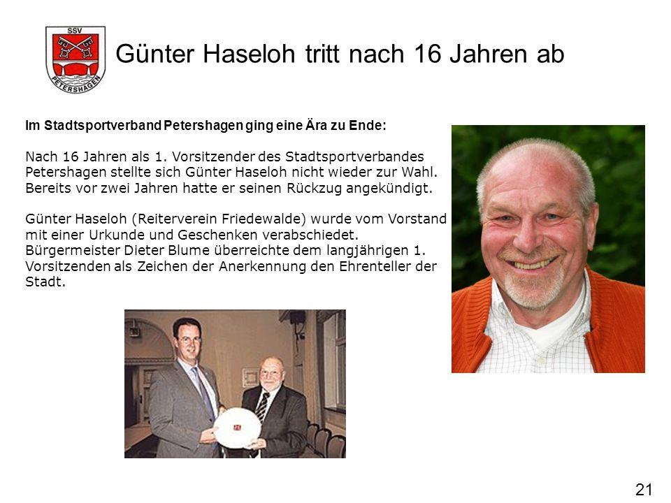 Günter Haseloh tritt nach 16 Jahren ab