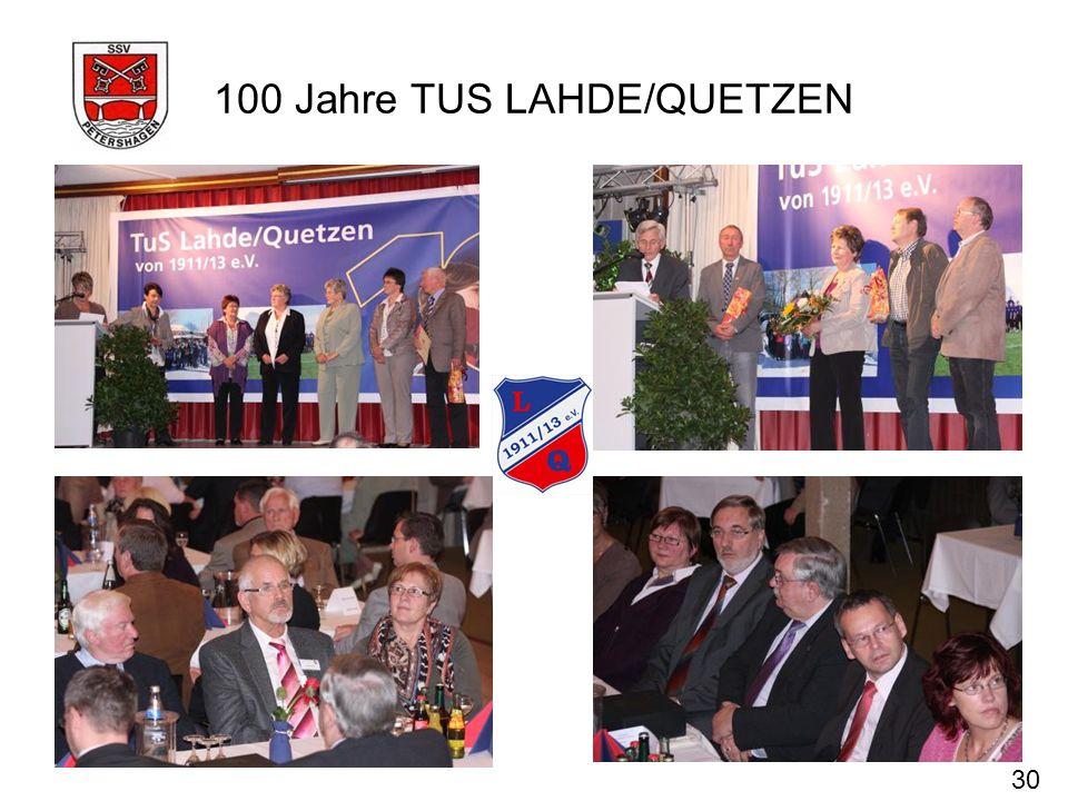 100 Jahre TUS LAHDE/QUETZEN