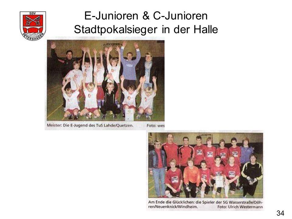 E-Junioren & C-Junioren Stadtpokalsieger in der Halle