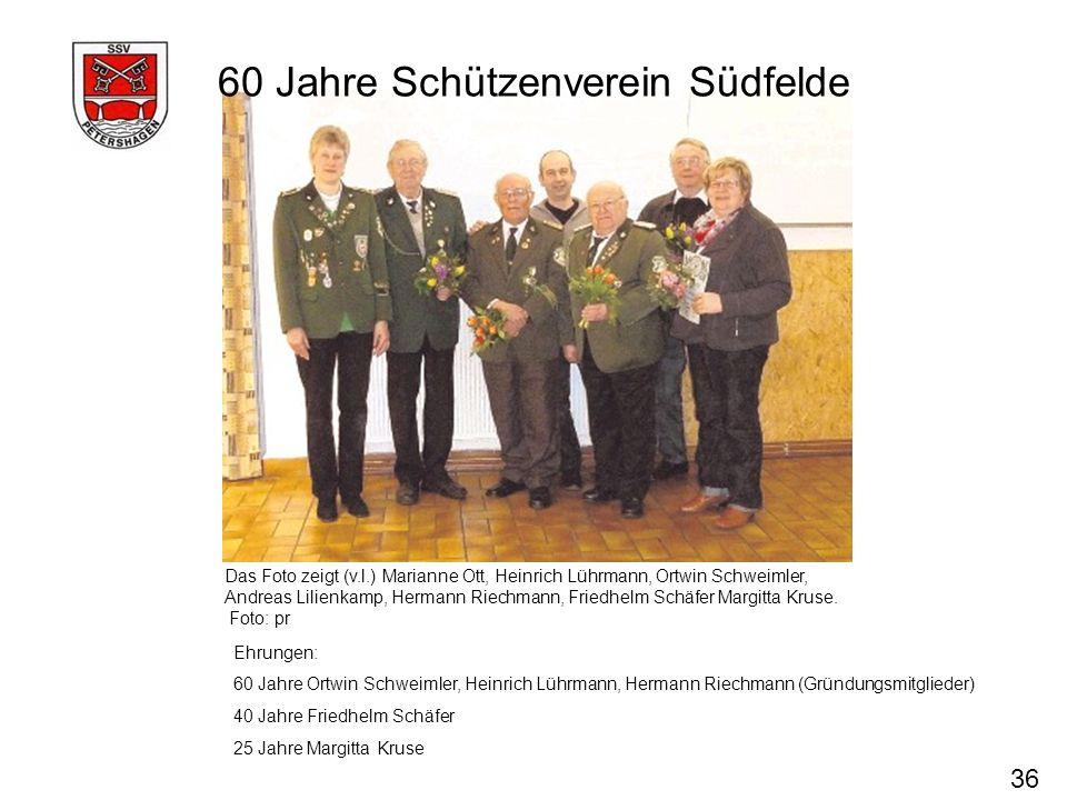 60 Jahre Schützenverein Südfelde