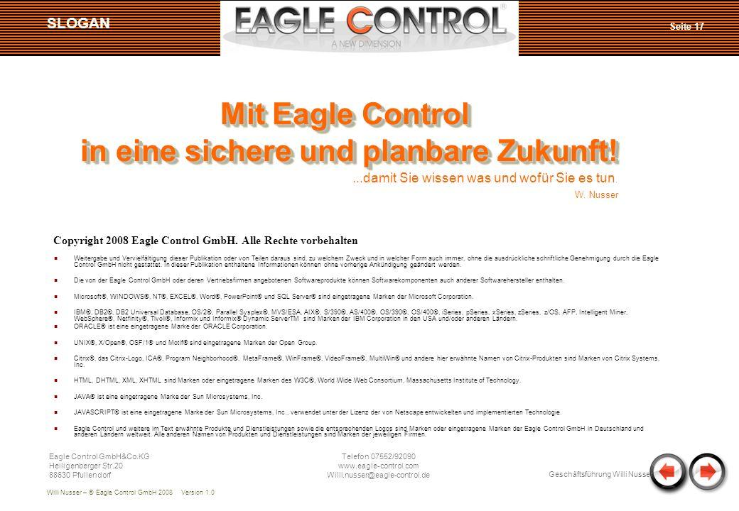 Copyright 2008 Eagle Control GmbH. Alle Rechte vorbehalten